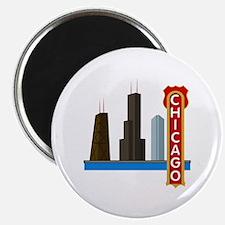 Chicago Illinois Skyline Magnet