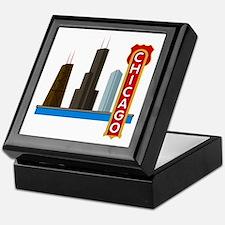 Chicago Illinois Skyline Keepsake Box