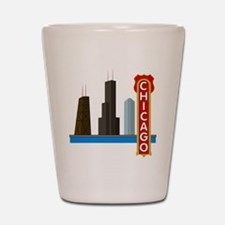 Chicago Illinois Skyline Shot Glass
