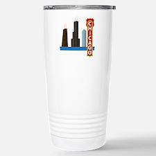 Chicago Illinois Skylin Travel Mug