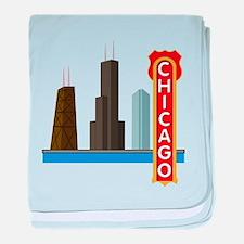 Chicago Illinois Skyline baby blanket