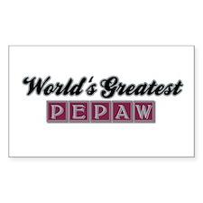 World's Greatest Pepaw (2) Rectangle Decal