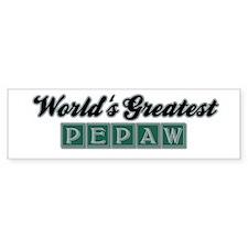 World's Greatest Pepaw (1) Bumper Bumper Sticker