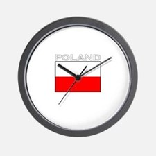 Poland Flag (Dark) Wall Clock