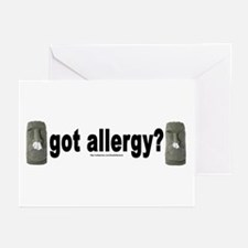 Allergy Moais Greeting Cards (Pk of 10)