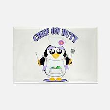 Chef on Duty Penguin female Magnets