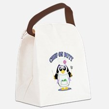 Chef on Duty Penguin female Canvas Lunch Bag