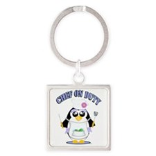 Chef on Duty Penguin female Keychains