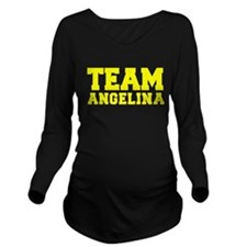 TEAM ANGELINA Long Sleeve Maternity T-Shirt