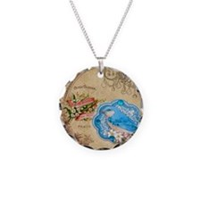 vintage bird victorian floral art Necklace
