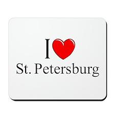 """I Love St. Petersburg"" Mousepad"