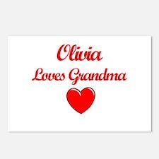 Olivia Loves Grandma Postcards (Package of 8)