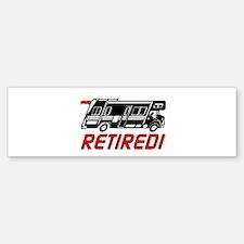 Lg Retired Flag Bumper Bumper Bumper Sticker