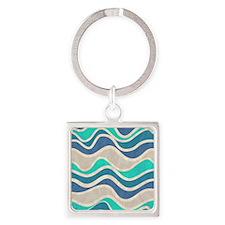 Waves Pattern Keychains