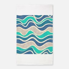 Waves Pattern 3'x5' Area Rug