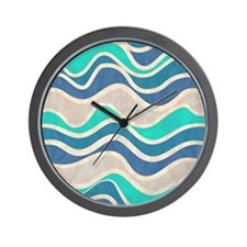 Waves Pattern Wall Clock
