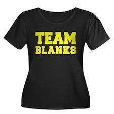 TEAM BLANKS Plus Size T-Shirt