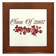 Red Rose 2007 Graduate Framed Tile