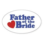 Father of the Bride Oval Sticker