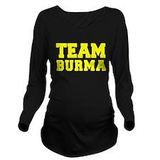 TEAM BURMA Long Sleeve Maternity T-Shirt