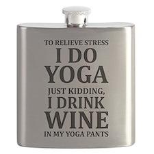 To Relieve Stress I Do Yoga Flask