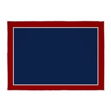 Red And Blue 5'x7'area Rug