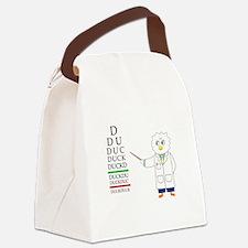 Eye Exam Canvas Lunch Bag