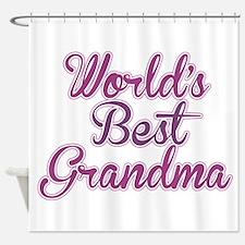 Worlds Best Grandma Design Shower Curtain