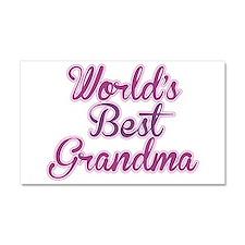 Worlds Best Grandma Design Car Magnet 20 x 12