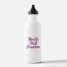 Worlds Best Grandma Design Water Bottle