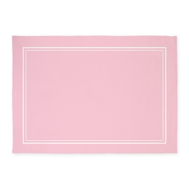 Blush Pink 5'x7'area Rug By Mcornwallshop