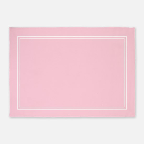 Blush Pink 5'x7'area Rug