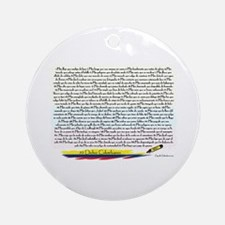 70 Dichos Colombianos Ornament (Round)