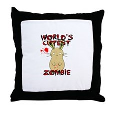 Worlds Cutest Zombie Throw Pillow