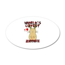 Worlds Cutest Zombie Wall Decal