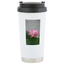 Thank You Mom pink lotus Travel Mug