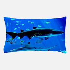 2 Black Tipped Sharks Pillow Case