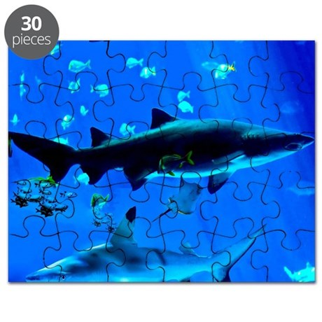 2 Black Tipped Sharks Puzzle