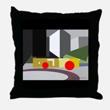 pershing bldgs background cawh Throw Pillow