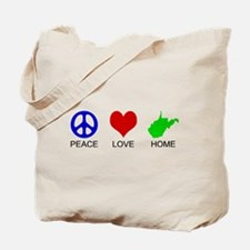 Peace Love Home Tote Bag