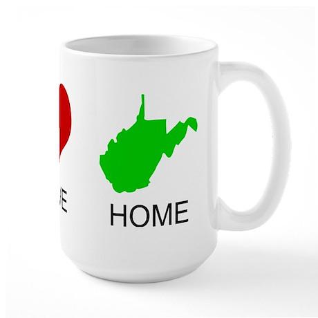 Peace Love Home Large Mug