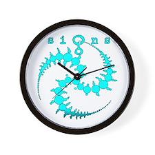 Spiral Crop Circle Aqua Wall Clock