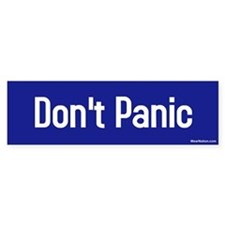 Don't Panic Bumper Car Sticker