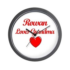 Rowan Loves Grandma Wall Clock