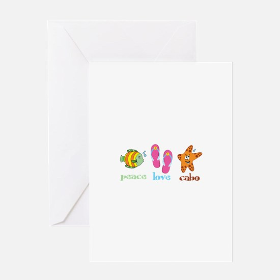 peace love cabo Greeting Cards