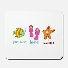 peace love cabo Mousepad