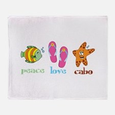 peace love cabo Throw Blanket