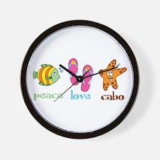 peace love cabo Wall Clock