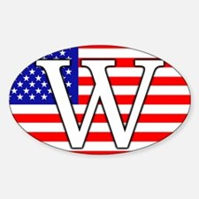 W on the flag W2004 Pro-Bush Oval Decal