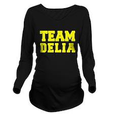 TEAM DELIA Long Sleeve Maternity T-Shirt